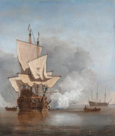Gemälde von Willem van de Velde d. J., ca. 1680