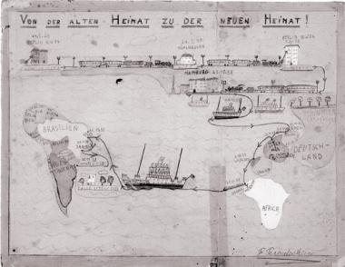Kinderzeichnung von Erich Freudenheim, Bruder seiner Partnerin Eva Weil