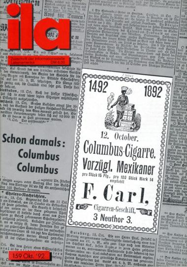 Titelblatt ila 159 Columbus Columbus