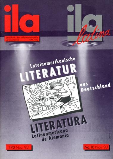 Titelblatt ila 170 Lateinamerikanische Literatur aus Deutschland