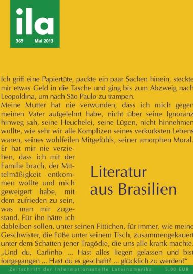 Titelblatt ila 365 Literatur aus Brasilien